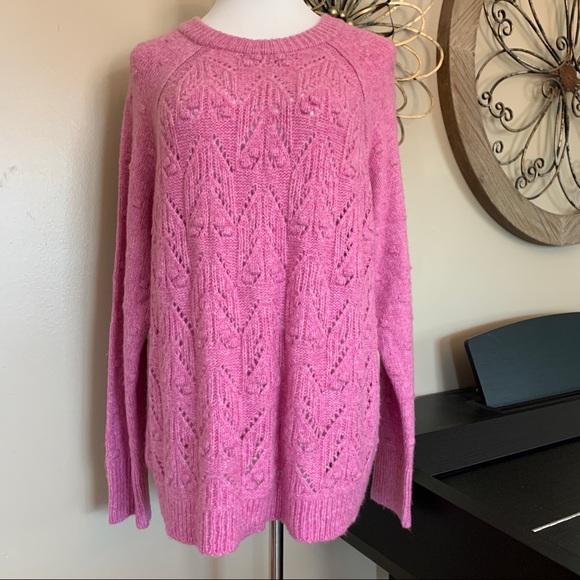 NWT SONOMA Size XXL Soft Pink Sweater